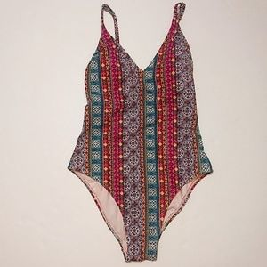 Xhilaration | Colorful Strappy One Piece Swimsuit